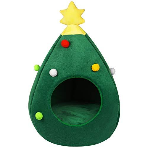 Balacoo, cuccia a forma di albero di Natale, morbida e calda, per cani e gatti, ideale come regalo per il nuovo anno