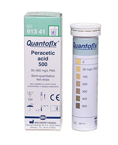 Quantofix 1171643 Peressigsäure 500 Teststick, CE-gekennzeichnet, 6 mm x 95 mm, 100 Stück