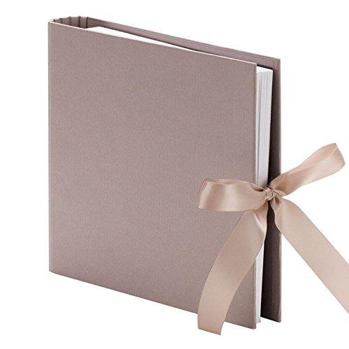 Rössler Papier Fotoringbuch  taupe mit Schleife, 1 Stück