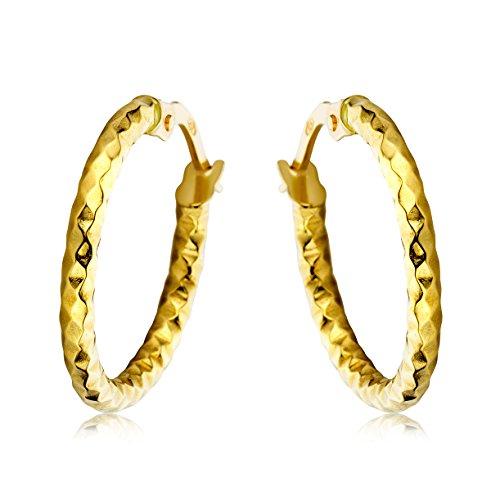 Miore Ohrringe Damen Gelbgold 18 Karat / 750 Gold Creolen