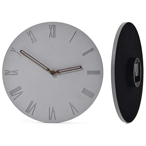 Wallohere Wall Clock Non Ticking Silent Wall Clocks Battery...