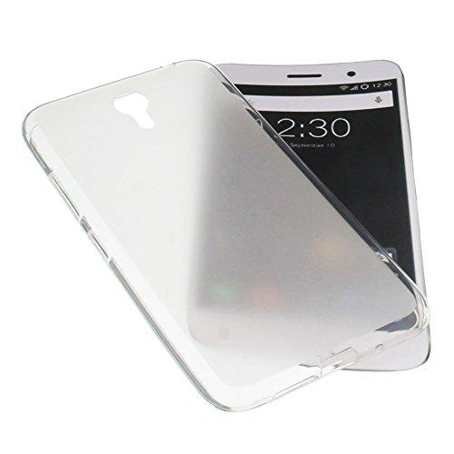 foto-kontor Tasche für ZUK Z1 5.5 Gummi TPU Schutz Handytasche milchig transparent