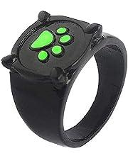 Nuryme Cat Noir - Anillo de gato negro y verde para disfraz de cosplay