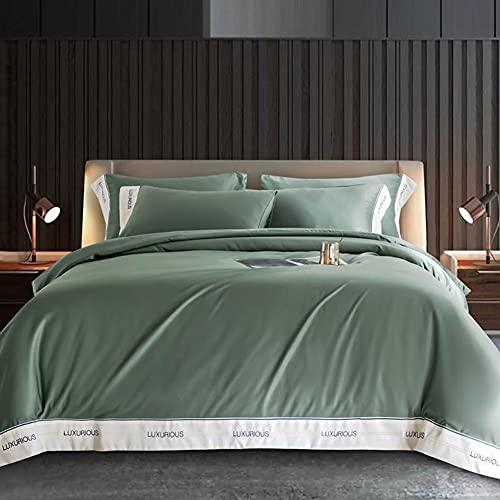 ZLH Edredón Doble, sábanas de Seda Helada para Colcha de Verano, Ropa de Cama Suave y Transpirable de 4 Piezas, Amarillo, 200 * 230 cm