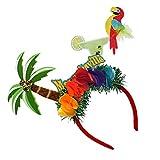 ABOOFAN 2 Piezas de Bandas para El Pelo de Loro de Palmera Hawaii Aros para El Pelo Tocado de Fiesta Verano Playa Banda para El Cabello Accesorios para El Cabello para Mujeres Niñas