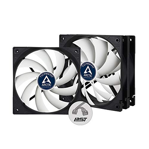 ARCTIC F12 PWM PST (3 Pack) - 120 mm PWM PST Case Fan with PWM Sharing Technology (PST), Value Pack, Very Quiet Motor, Computer, Fan Speed: 230-1350 RPM - Black White