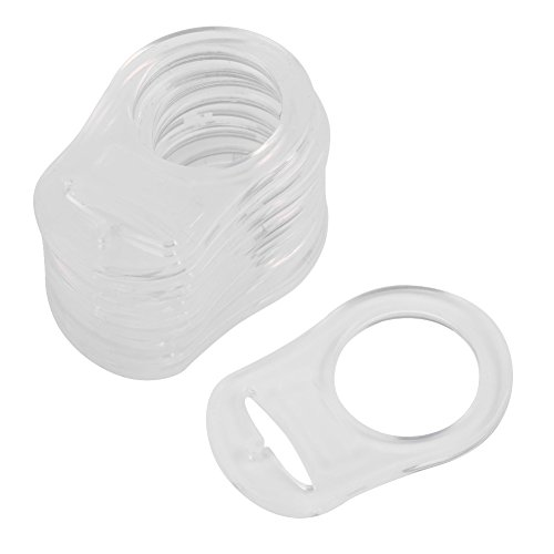 10 stks siliconen transparante baby dummy knoppen fopspeen houder clip adapter baby tepel ringen (transparant)