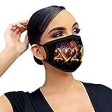 PJQQ Unisex-Schutz für Mund und Nase für Erwachsene, dreilagiger, bedruckbarer, atmungsaktiver, staubdichter Maskenschalbezug für das Neue Jahr 2021