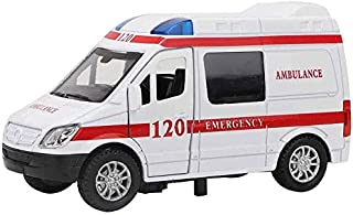 MXueei 1:32 Mini Simulation Alloy Ambulance Car with Sound and Light Model Toy Vehicle Collection Gift for Children Above 3 Years Old (Color : Red)