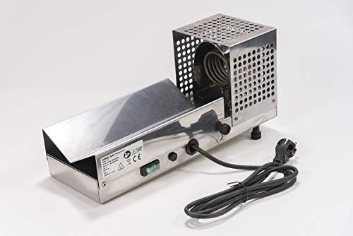 Termocapsuladora de acero inoxidable para aplicación de cápsulas termorretráctiles en botellas de cristal para vino y aceite