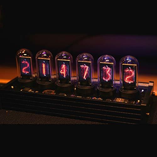 NovelLife Elekstube IPS Vintage Digitaler Wecker 6 Bit RGB Glow LCD Zeit Foto Display DIY Nixie Tube Uhr Simulation Retro Schreibtisch Dekoration Geschenk