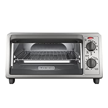 BLACK+DECKER 4-Slice Countertop Toaster Oven Stainless steel Silver TO1322SBD