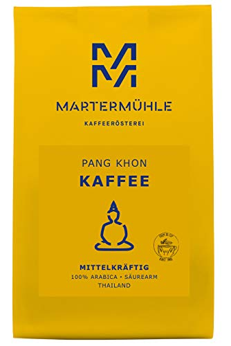 Martermühle | Kaffee Pang Khon (1kg) | Ganze Bohnen | Premium Kaffeebohnen aus Thailand | Schonend geröstet | Kaffee säurearm | 100% Arabica