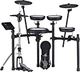 Roland TD-07DMK Electronic V-Drums Legendary Double-Ply All Mesh Head kit with Superior Expression and playability – Bluetooth Audio & MIDI – 40 Free Melodics Lessons, Black
