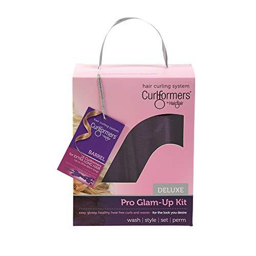 Curlformers Deluxe Glam-Up - Lockenstyling-Set für große Locken - für sehr langes Haar bis zu einer Länge von 60 cm - ohne Hitze - mit 16 Lockenwicklern und 1 Stylinghaken