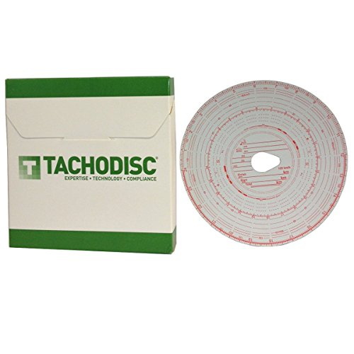 Price comparison product image 2 x Box (100) Tacho chart cards for trucks- Tachograph charts T1 / T2 (125KM / H)