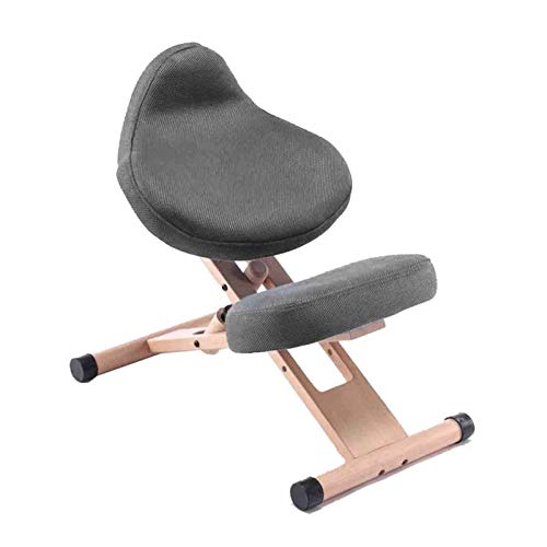 Home Ergonomic Kneeling Chair Furniture Knee Chair Angled Posture Seat Ergonomic Rocking Stool Prevents Hunchbacks and Myopia Student Learning Chair for Home and Office Black