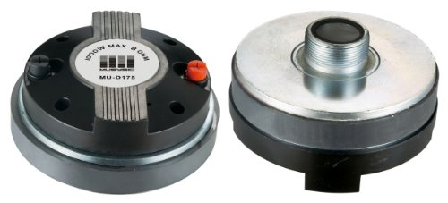 "Pair (2pcs) 1000 Watts Titanium Compression Driver 1.75"" Screw-On Horn Driver Tweeter"
