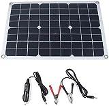 J & J Multifuncional Ultra-Delgado 20W monocristalino del Panel Solar Cargador de batería con Puertos de Salida USB portátil a Prueba de Agua