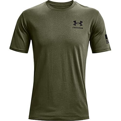 Under Armour Men's New Freedom Flag T-Shirt , Marine Od Green...
