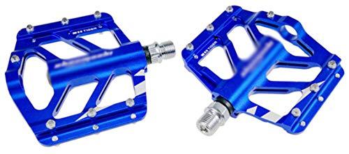 WOOAI 1 Paire VTT Pédale De Vélo Vélo De Route BMX Vélos De Montagne Pédale 6 Couleurs Plate-Forme de pédales, Bleu