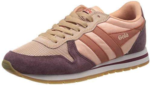 Gola Damen Daytona Sneaker, Pearl Pink/Windsor Wine/Hot Coral, 38 EU