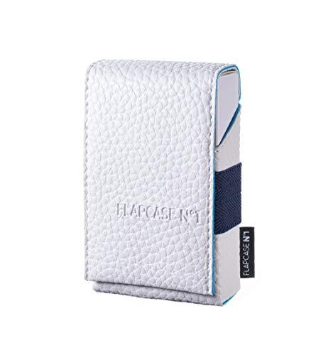FLAPCASE N°1 • Glacier Shadow • Designer Zigarettenetui, Made in Austria, Leder vegan Zigarettenbox für 19, 20, 21 Zigaretten Packungen, King-Size