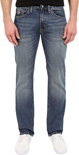 U.S. Polo Assn. Men's Slim Straight 5 Pocket Denim Jean In Medium Wash, Blue, 34×32