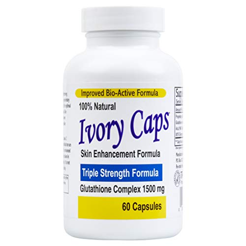 Ivory Caps - Maximum Potency 1500 mg Glutathione Skin Whitening Pills...