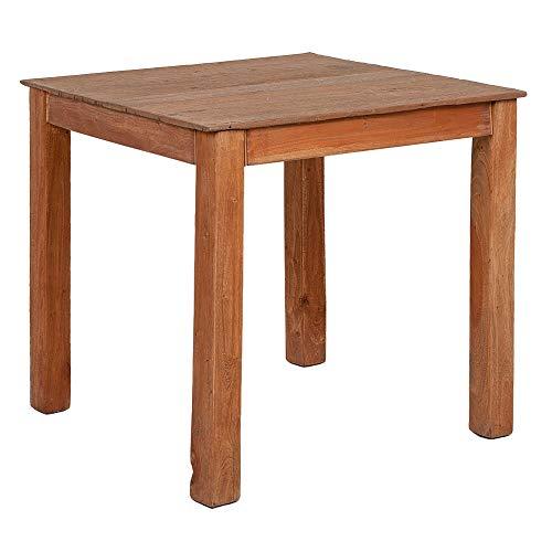 LEBENSwohnART Mahagoni Esstisch Indo ca. 80x80cm Rustic Teak Wohnzimmtisch Küchentisch Tisch