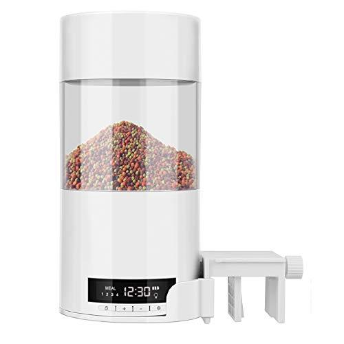 Ironhorse Alimentador automático Alimentador de alimentos de peces Alimentador de temporizador de...