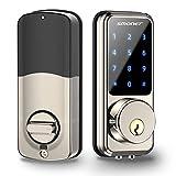 Smart Lock,SMONET Keyless Entry Door Lock,Remote Lock/Unlock for Home Security,Easy Install,Voice Control,Touchscreen Keypad Deadbolt ,Code Bluetooth Electric Deadbolt for Hotel,Office