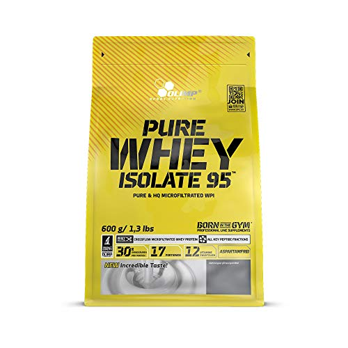 Olimp Pure Whey Isolate 95 Vanille, 1er Pack (1 x 600 g Beutel)
