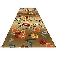ランナーラグ廊下キッチンカーペット、プラムブロッサムパターンカット可能洗える滑り止めキッチンの階段に固定、サイズ調整可能,120x200cm