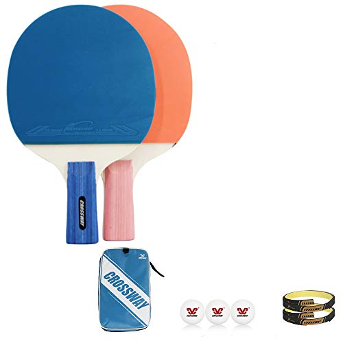 Buy Bargain Table Tennis Set,2 Ping Pong Paddles and 3 Ping Pong Balls for Beginners and Kids-Pink Y...