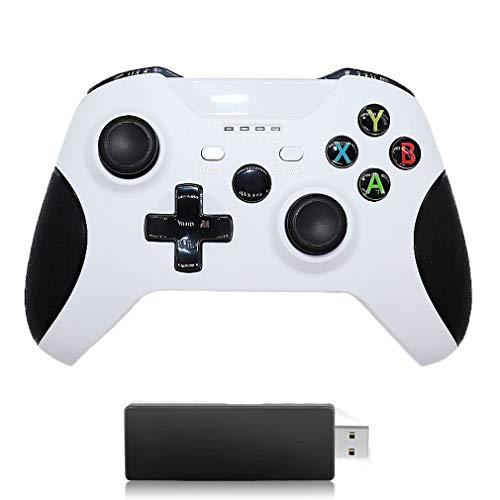 GRJKZYAM Controlador para Compatibilidad Xbox One, Controlador Inalámbrico de 2.4 GHz para Xbox One / PS3 / PC, Gamepad Inalámbrico Bluetooth Diseño Ergonómico Joystick Gamepad Vibración Dual