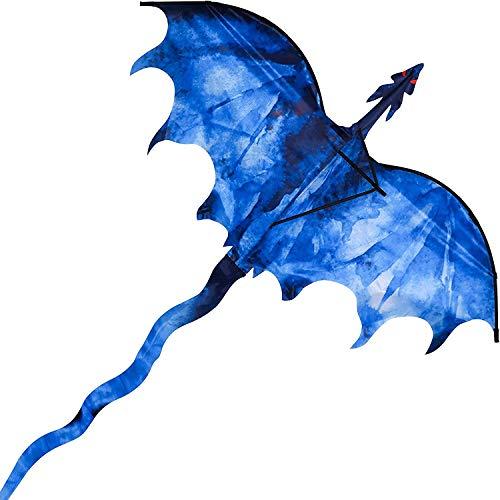 Enorme aquilone per bambini e adulti, facile da far volare filo singolo con coda per gite in spiaggia al parco