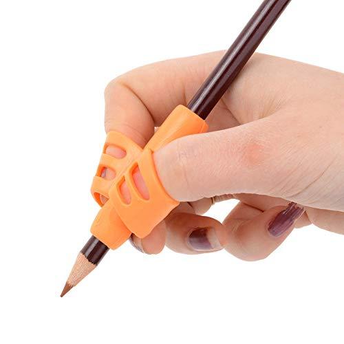 Set di 3 portamatite a impugnatura ergonomica, per scrittura a mano, per bambini e adulti, destrorsi o mancini free size random color