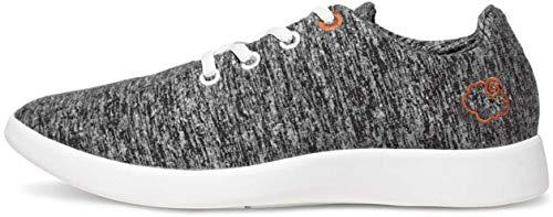 LeMouton Classic Women's Wool Shoe | Comfortable Lightweight | Walking Lace Up Sneaker [ Dark Grey/US Women's 7]