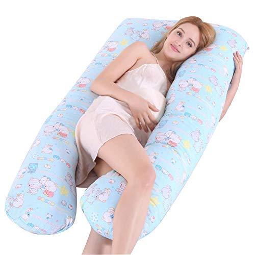 Paradesour - Almohada de Maternidad con Forma de U para Embarazadas y Lactantes, 130 x 72 cm