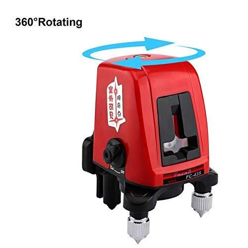 HYISHION Etapa láser Rojo de 360 ?? Rotación Nivel Profesional y Auto-nivelación...