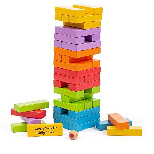 Bigjigs Toys Tour à Empiler | Jouet pour Enfant | Cadeau Enfant | Joeut Traditionnel | Apprendre en Jouant