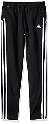 adidas Girls' Big Tricot Warm Up Pant, adi Black, Small