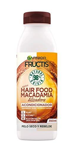 Garnier Fructis Hair Food Acondicionador de Macadamia Alisadora para Pelo Seco o Rebelde - 350 ml