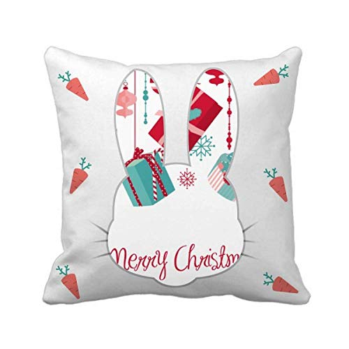 cold master DIY lab Snowflake Bulb Crutch Pattern Rabbit Throw Pillow Square Cover