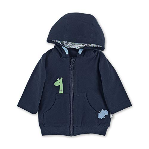 Sterntaler Baby-Jungen Hooded Jacket Jacke, Blau (Marine 300), 6-9 Monate (Herstellergröße: 74)