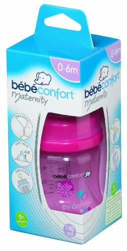 Bebeconfort Colección 2012 30000685 - Botella de lactancia (polipropileno, silicona, 140 ml), color rosa