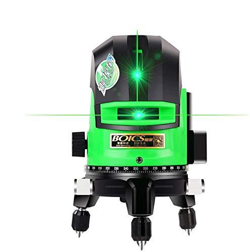 Kreuzlinienlaser grün 30M, Laser Level 2 Linie careslong 360° grüner Laserpegel selbstausgleichende, IP 54 Selbstnivellierende Vertikale und Horizontale Linie (inklusive 2pcs Batterie)2 Linie)