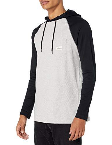Quiksilver Herren Sun Cruise Hood Knit Sweatshirt, Hellgrau Heather/Schwarz, XX-Large