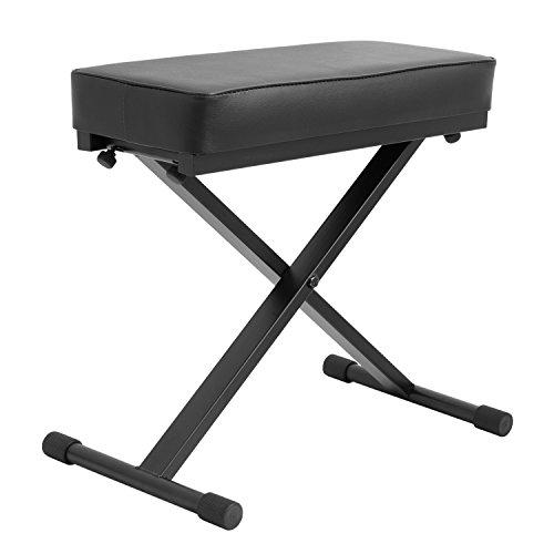 Tiger PST7-BK - Banqueta para teclado y piano (altura regulable), color negro